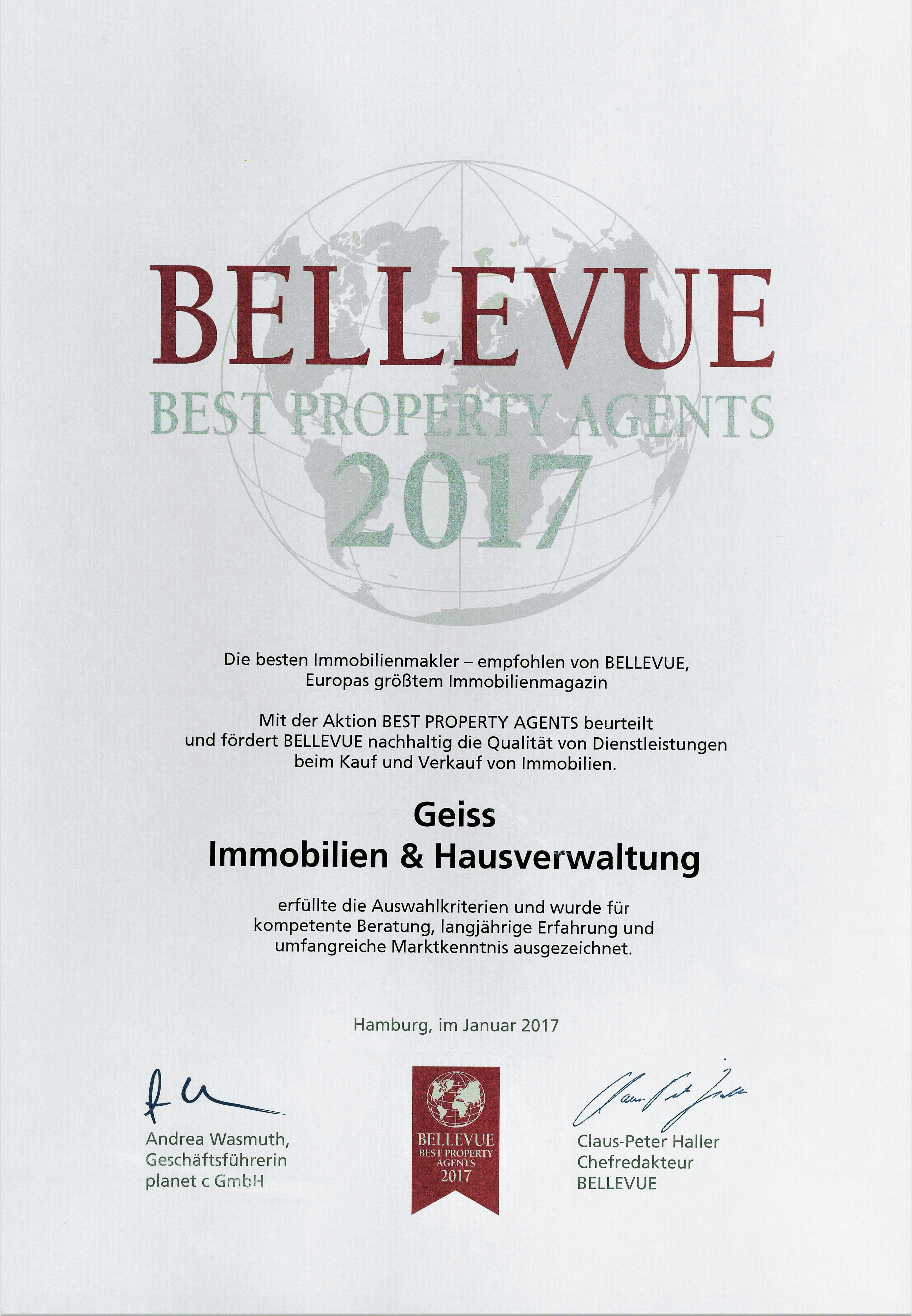 Bellevue Best Property Agents 2017